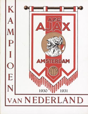 Clubnieuws Ajax (vanaf 1916) 1931-06-21