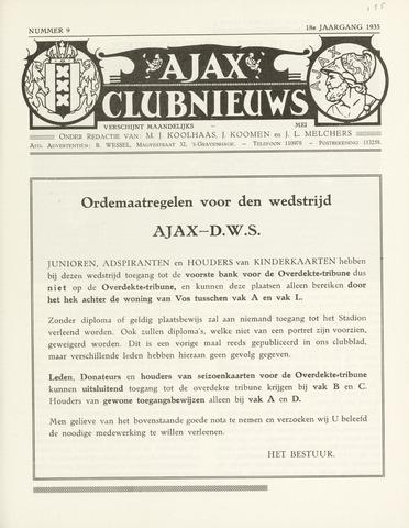 Clubnieuws Ajax (vanaf 1916) 1935-05-01
