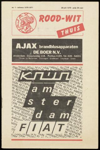 Programmaboekjes (vanaf 1934) 1970-07-26