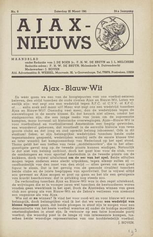 Clubnieuws Ajax (vanaf 1916) 1941-03-22