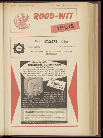 Programmaboekjes (vanaf 1934) 1960-01-10