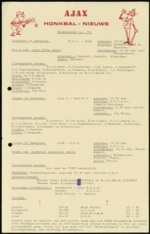Honkbal nieuws (1963-1972) 1972-08-19