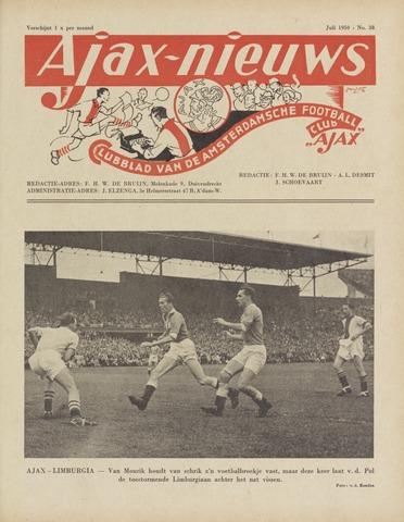 Clubnieuws Ajax (vanaf 1916) 1950-07-01