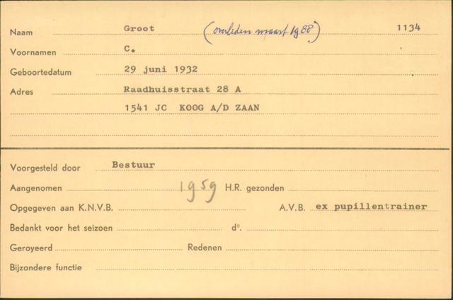 Ledenkaarten (1911-1989) 1959