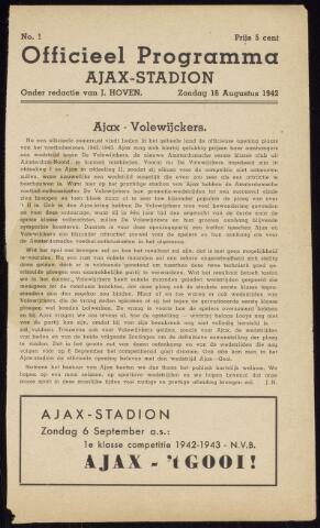 Programmaboekjes (vanaf 1934) 1942-08-16