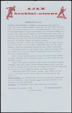 Honkbal nieuws (1963-1972) 1969-09-09