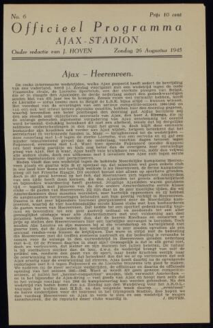 Programmaboekjes (vanaf 1934) 1945-08-26