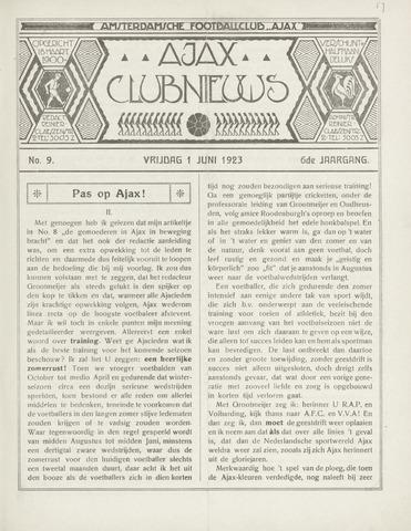 Clubnieuws Ajax (vanaf 1916) 1923-06-01