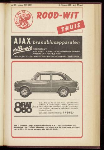 Programmaboekjes (vanaf 1934) 1968-02-18