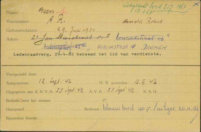 Ledenkaarten (1911-1989) 1942-09-12