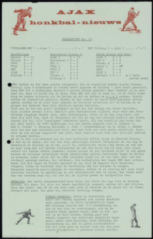 Honkbal nieuws (1963-1972) 1964-06-15