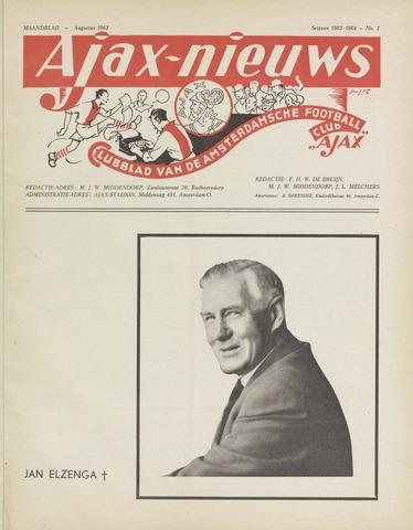 Clubnieuws Ajax (vanaf 1916) 1963-08-01