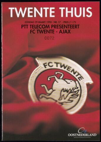 Programmaboekjes (vanaf 1934) 1998-03-29