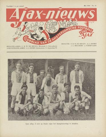 Clubnieuws Ajax (vanaf 1916) 1948-05-01