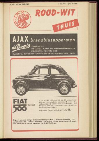 Programmaboekjes (vanaf 1934) 1967-05-07