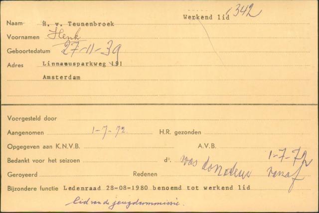 Ledenkaarten (1911-1989) 1972