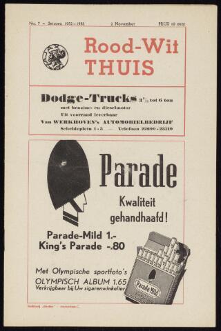 Programmaboekjes (vanaf 1934) 1952-11-02
