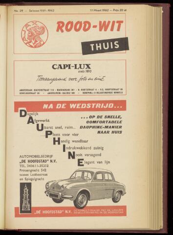 Programmaboekjes (vanaf 1934) 1962-03-11
