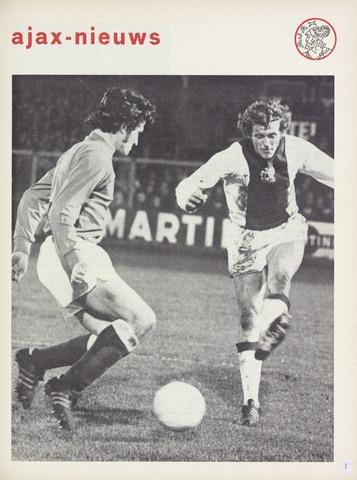 Clubnieuws Ajax (vanaf 1916) 1973-01-01