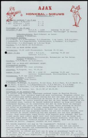 Honkbal nieuws (1963-1972) 1972-05-13