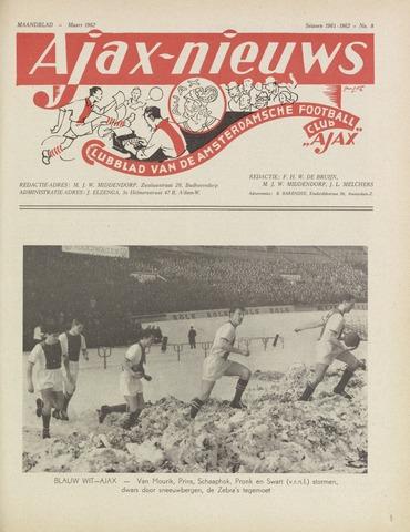 Clubnieuws Ajax (vanaf 1916) 1962-03-01
