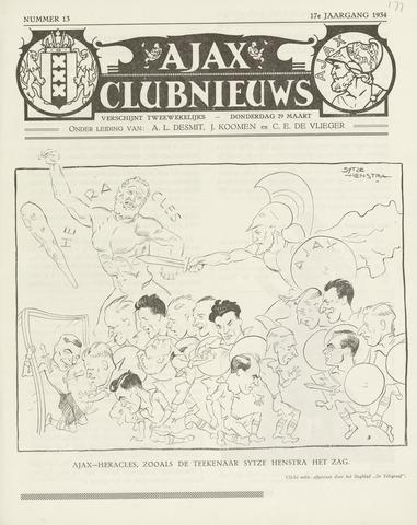 Clubnieuws Ajax (vanaf 1916) 1933-03-29