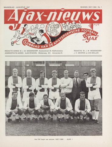 Clubnieuws Ajax (vanaf 1916) 1967-08-01