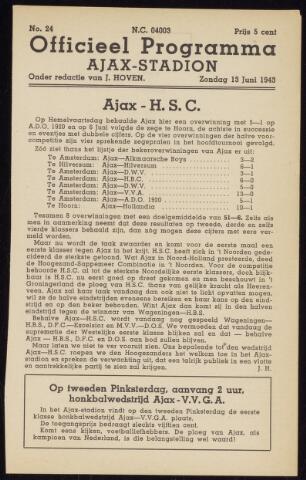 Programmaboekjes (vanaf 1934) 1943-06-13