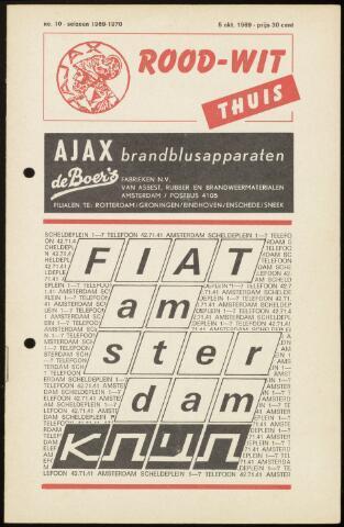 Programmaboekjes (vanaf 1934) 1969-10-05