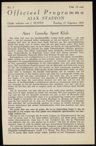 Programmaboekjes (vanaf 1934) 1945-08-19