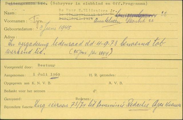 Ledenkaarten (1911-1989) 1969-07-01