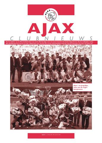 Clubnieuws Ajax (vanaf 1916) 2004-05-01