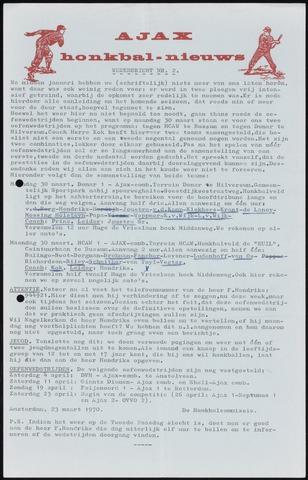 Honkbal nieuws (1963-1972) 1970-03-23