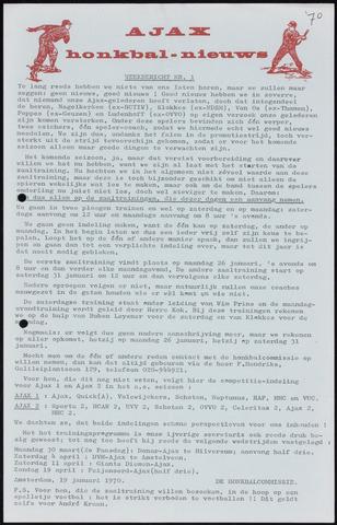 Honkbal nieuws (1963-1972) 1970