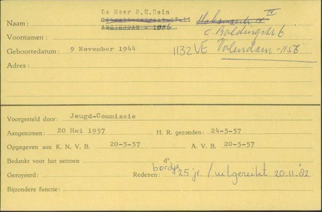 Ledenkaarten (1911-1989) 1957