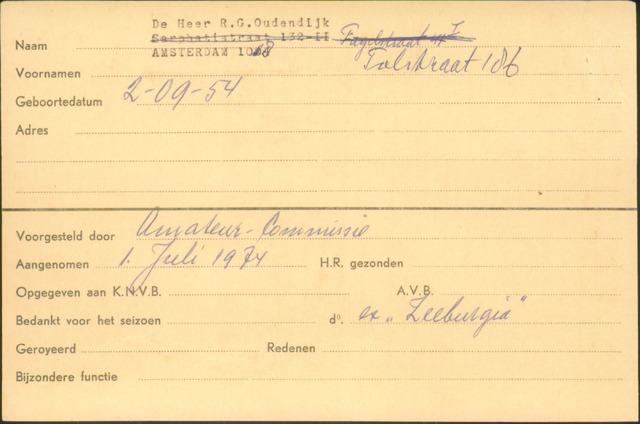 Ledenkaarten (1911-1989) 1974