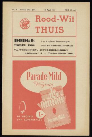 Programmaboekjes (vanaf 1934) 1954-04-19