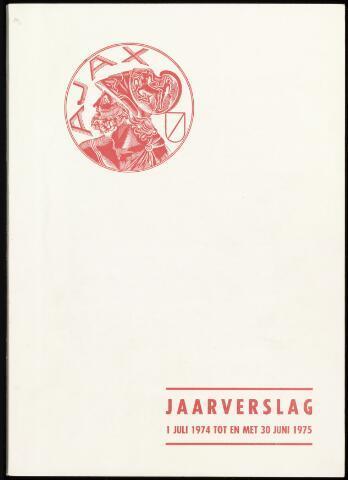 Jaarverslagen Vereniging (vanaf 1964) 1975-06-30