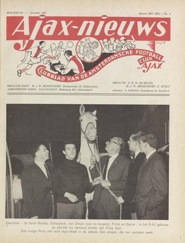 Clubnieuws Ajax (vanaf 1916) 1963-11-01