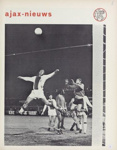 Clubnieuws Ajax (vanaf 1916) 1972-03-01