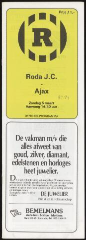 Programmaboekjes (vanaf 1934) 1989-03-05