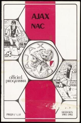 Programmaboekjes (vanaf 1934) 1981-10-18