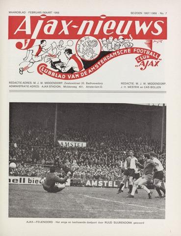 Clubnieuws Ajax (vanaf 1916) 1968-02-01