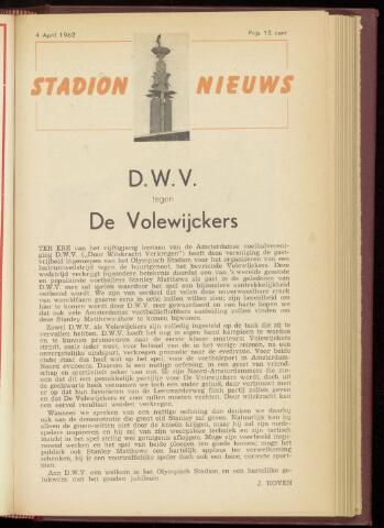 Programmaboekjes (vanaf 1934) 1962-04-04