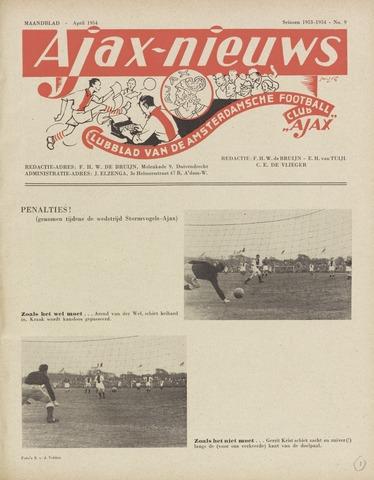 Clubnieuws Ajax (vanaf 1916) 1954-04-01