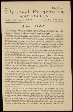 Programmaboekjes (vanaf 1934) 1945-05-27