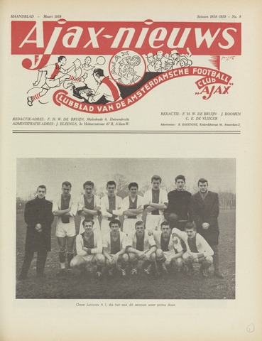 Clubnieuws Ajax (vanaf 1916) 1959-03-01