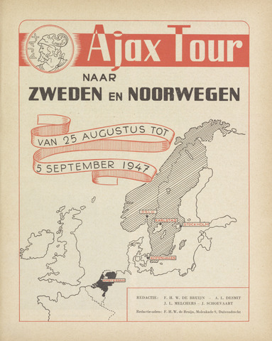 Clubnieuws Ajax (vanaf 1916) 1947-08-25