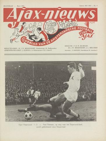 Clubnieuws Ajax (vanaf 1916) 1963-03-01