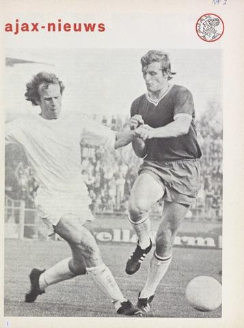 Clubnieuws Ajax (vanaf 1916) 1970-10-01